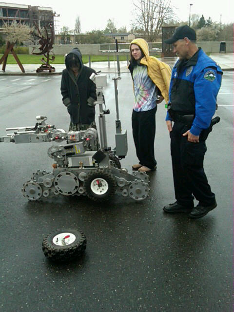 BPD robot, removable wheels