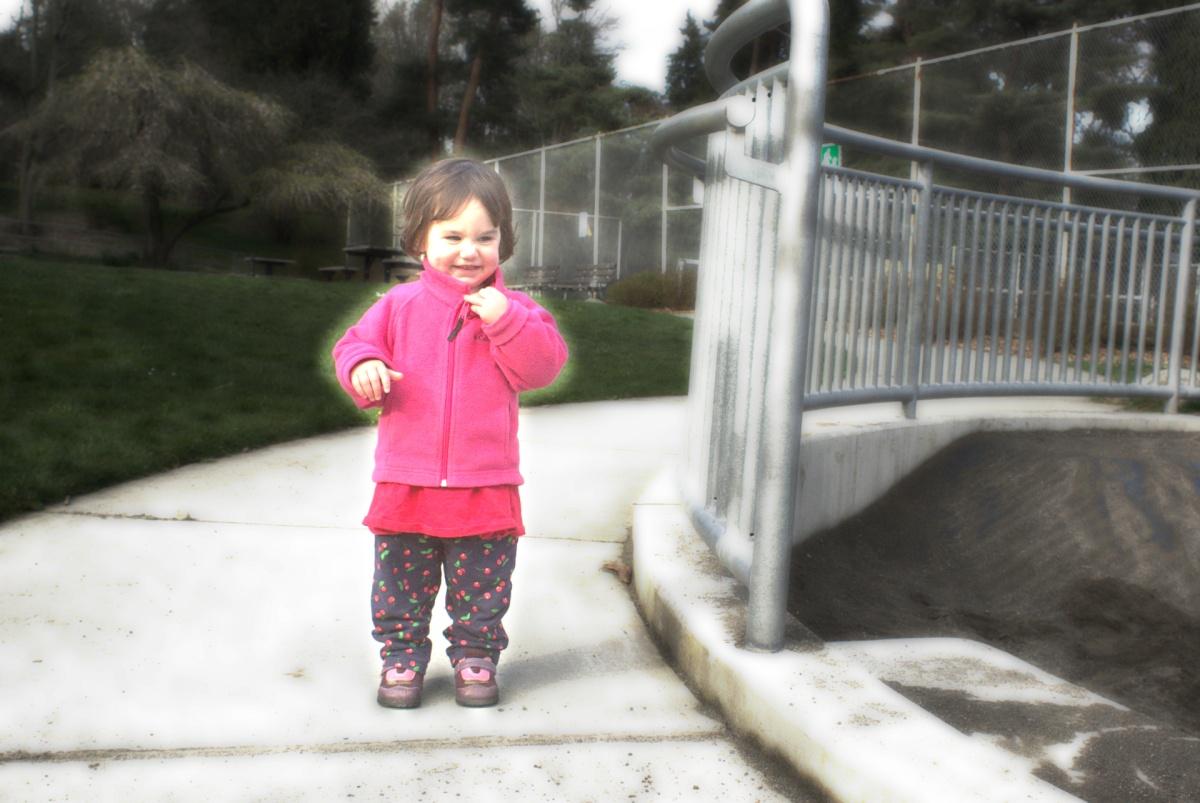 Ellie at playground