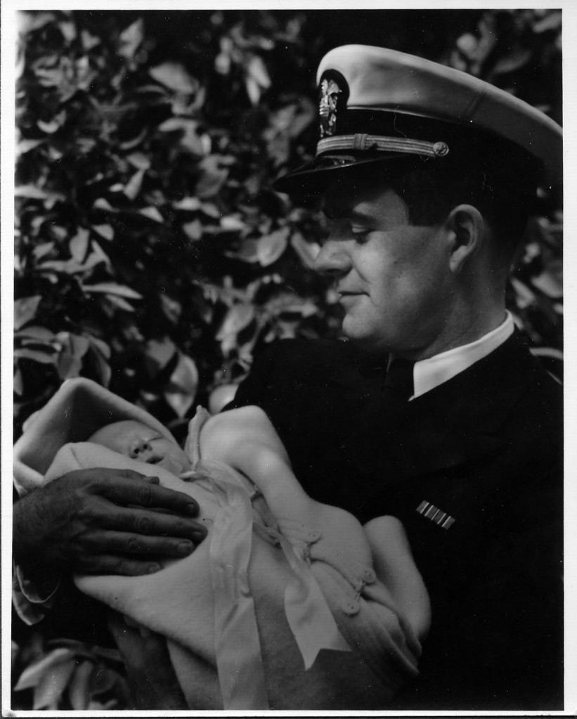 Here's Chang in uniform (Navy) in 1943, first week in November (Grampa Bob was 3 weeks old).