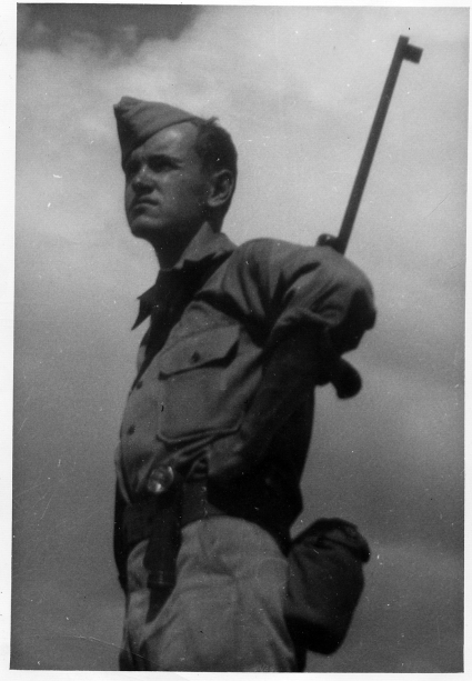 This is my uncle Jack Aden Williamson (Margaret's brother) – your great-uncle and Liam and Jesse's great-great. Likely at the very end of WWII, probably in the Philippines.